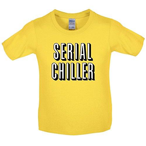 Serial Chiller - Kinder T-Shirt - Gänseblümchen-Gelb - M (7-8 Jahre) (Netflixs Und Chill Kostüm)