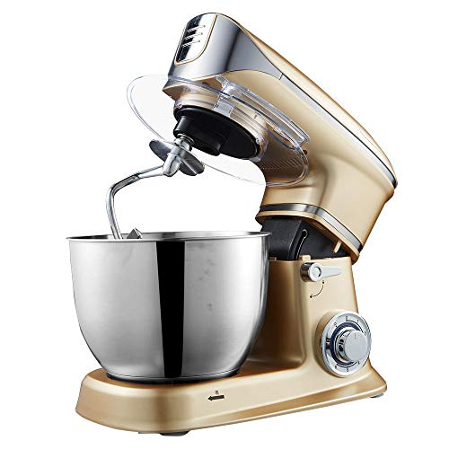 Alimentos Batidora De Pie 6 + P Acelera La Torta Mezclador 1300W Dough Maker Con 6.5L Del Recipiente...