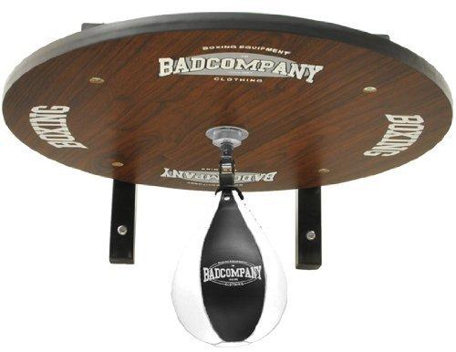 Supreme Speedball Plattform Set inkl. Drehkugellagerung schwarz und PU Boxbirne medium schwarz / Boxapparat für die Wandmontage BCA-39