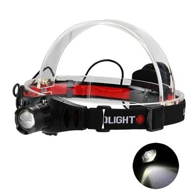 fitTek® Stirnlampe Kopflampe CREE Q5 Wei? 800LM Zoombar 3 Leuchtmodi Wandern Outdoor HOT von fitTek - Lampenhans.de