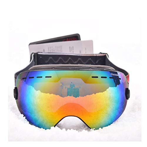 He-yanjing Skibrille für Skibrillen für Kinder, Skibrillen für Eltern und Kinder, Skibrille für Kinder im Freien Skibrille für Skibrillen, Skibrille im Winter Skibrille (Farbe : Schwarz)