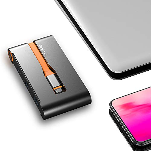 UPVICH USB C Hub,7 in 1 USB C Adapter,Docking Station 4K USB C auf HDMI,VGA,Ethernet,Power Delivery 100w,3 USB 3.0 Ports,Thunderbolt 3 Dock Kompatibel mit MacBook Pro 2018 Lenovo Samsung Dex Station
