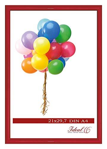 Ideal Trend Home Lifestyle Kunststoff Bilderrahmen 10x15 cm bis 50x70 cm Foto Rahmen: Farbe: Rot | Format: 40x50