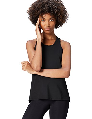 FIND Top de Sport Femme Noir (Black/damson)