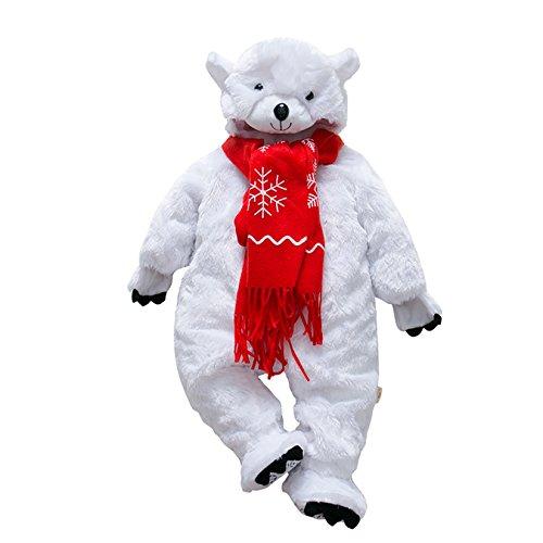 (DAYU Kinder Baby Kostüme Tier Cosplay Jumpsuit Schlafanzug Unisex Winter Nachtwäsche Strampler Tiere Körpergröße (10 Tiere Optional))