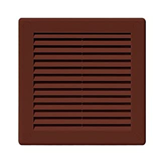 Air Vent Grille Cover 250 x 250mm (10 x 10inch) BROWN Ventilation Cover High Quality ABS Plastic by Armar Trading Ltd