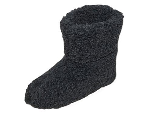 Natural Line, Pantoufles Avec Rembourrage En Peau De Mouton, Unisexe, Chaud Et Confortable, Différentes Couleurs Gris
