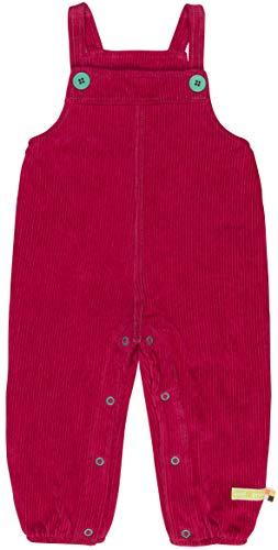 loud + proud Unisex Baby Elastische Cord Bio Baumwolle, GOTS Zertifiziert Latzhose, Rosa (Berry Ber), 92 (Herstellergröße: 86/92)