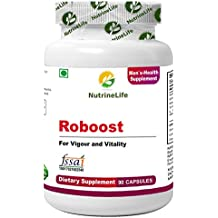 NutrineLife Roboost With Shilajit, Ashwaganda, Safed Musali For Men's Vigour & Vitality - 90 Veg Capsules, (Pack of 1)