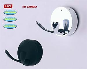ORIGINAL eyeCam Kleiderhaken mit Kamera mit HD Auflösung, NEUE VERSION 2016!! camcorder , spycam , Überwachungskamera , Motion Detection Bewegungsmelder eyeCam eye Cam Farbe: schwarz (260)