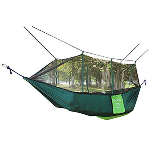 Byjia Hängendes Bett Der Hängematte Mit Moskito, Für Yard-Reise-Camping Im Freien,Green,260*140Cm