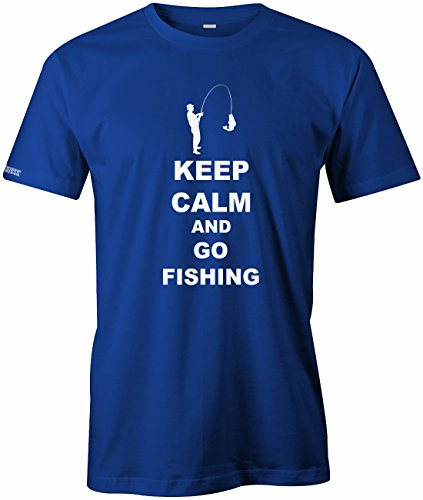 Keep calm and go Fishing - Angeln Sport Hobby - Herren T-SHIRT Royalblau
