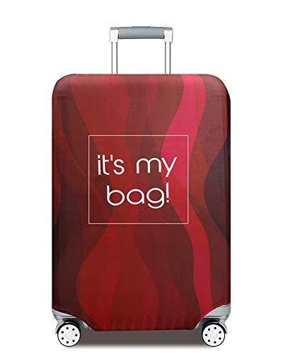 ZIXINGA Kofferhülle Elastisch 18-32Zoll Kofferschutzhülle Gepäck Cover Reisekoffer Hülle Kofferschutz Luggage Cover Gepäckabdeckung Kofferschutzhülle mit Reißveschluss (roter Streifen, XL)