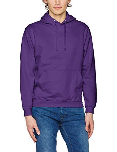 AWDis Herren Kapuzenpullover College Hoodie, Weiß, Small Lila (Purple)