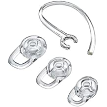 Replacement Set: 1 Earhook and 3 S/M/L Eartips for Plantronics Explorer 80 110 120 500, Voyager 3200 3240 Edge, M25, M70,M90,M95,M100,M155,Marque 2 M165, and Discovery 925 975 975SE Bluetooth Headsets