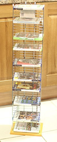 Base Station Unit (Wood Base 50 DVD Tower Free Standing Heavy Duty DVD rack Media Storage Unit FOR DVD XBOX PS3 PS4 Games Plays Station Games by OTZ)