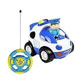 KOBWA Voiture Télécommandée RC Camion de Police/Course Jouet pour Les Bébés et...