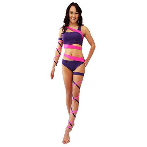 Wink Damen Strumpfband Gr. Einheitsgröße, Neon Pink/Purple
