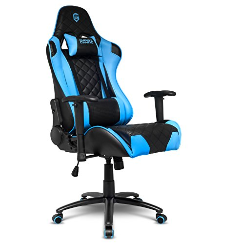 EMPIRE GAMING – Chaise Gamer Racing 700 Series Noir Ergonomique et inclinable - Accoudoirs 2D réglables - Coussins...