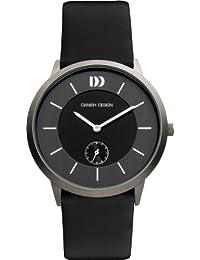 Danish Design Herren-Armbanduhr Analog Leder schwarz DZ120121