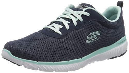Skechers Women\'s Flex Appeal 3.0 Trainers, Blue (Navy Aqua Nvaq), 6.5 UK 39.5 EU