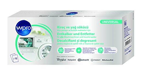 wpro DES124 - 3in1-Entkalker für die Entkalkung, Reinigung und Pflege von Waschmaschinen und Geschirrspülern