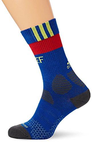 Adidas fef trg federazione calcistica della spagna 2015-2016 calzettoni, unisex, blu/rosso/grigio (ai4863 reauni/amabri/escarl/grpudg), 40-42
