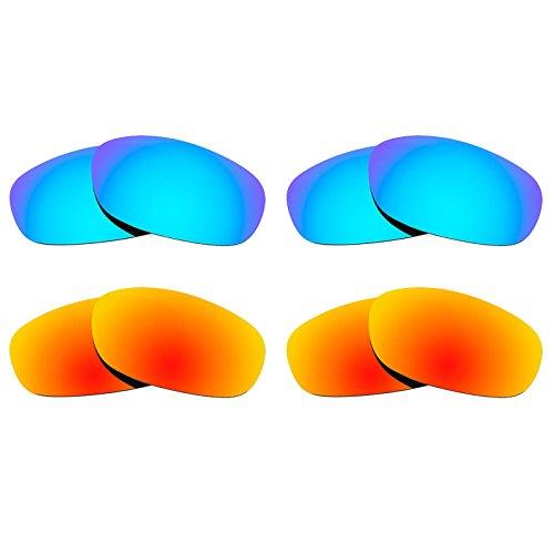 Revant Ersatzlinsen für Ray Ban Predator 2 RB2027 Polarisiert 4 Paar Kombipack K022