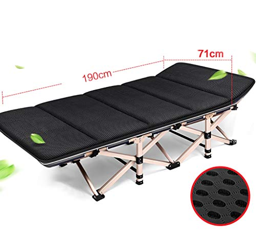YWZDY Liegen Folding Campingbett Sonnenliege Krippe tragbares Bett 1200D Stoff Starkes stabiles Gewicht kann 300 kg Camping, Reisen und Freizeit zu Hause tragen (Color : A) (Krippe Kopfstütze)