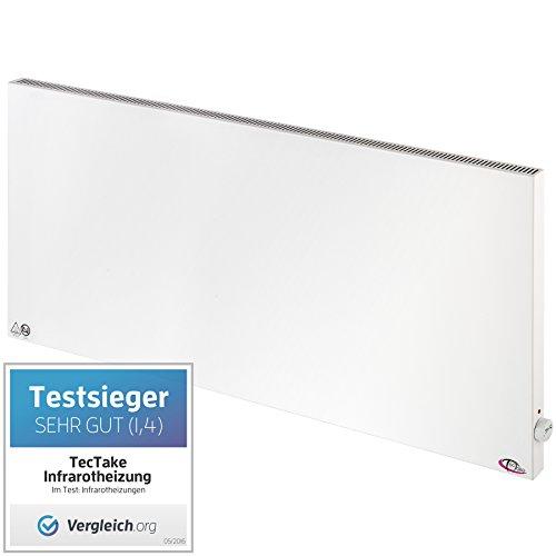 TecTake Infrarotheizung Elektroheizung Hybrid Paneel Heizpaneel manueller Thermostatregler inkl. Wandhalterung Heizfolie Made in Germany - diverse Größen - (1400 Watt // 60x140cm (Nr. 400635))