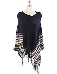 7477ca4c31ca0 HITSAN INCORPORATION FRALU autumn and winter European and American style  color stripes warm tassel cashmere cloak scarf shawl…