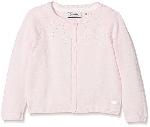 Sanetta Baby-Mädchen Strickjacke 906435 Rosa (Magnolie 3609) 74