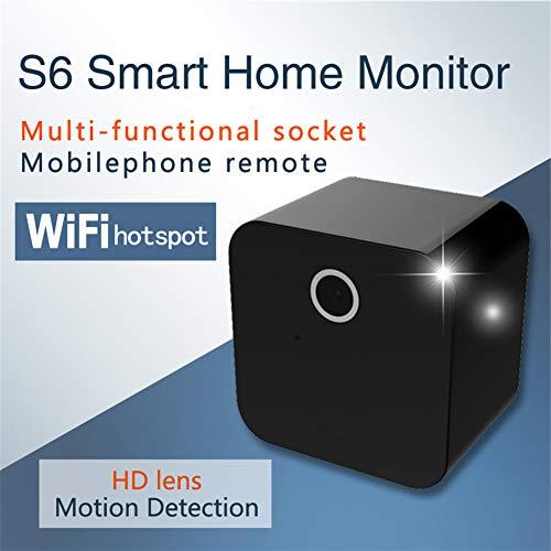 ZHANGZ0 Drahtlose WiFi-Kamera Indoor-Webcam mit Bewegungserkennung und Infrarot-Nachtsicht,geeignet für Home Office-Einkaufszentren,Black Ip Office-modulen