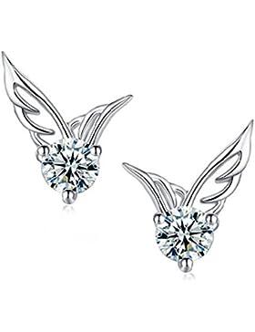ELEGANCE PARISIENNE Modische Flügel Ohrringe - SWAROVSKI ELEMENTS - Damen Frauen Kinder Fashion Elegante Kristall...