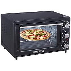 Mini Backofen 25 Liter | inkl. 2x Backblech | Pizza-Ofen | 3in1 Backofen mit Umluft | Minibackofen | Innenbeleuchtung | herausnehmbares Krümelblech | Ober-/Unterhitze | 60 min.Timer |