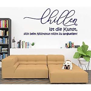 Wandtattoo-Wandaufkleber-Wandsticker ***CHILLEN ist die Kunst, sich beim Nichtstun nicht zu langweilen!*** (Größen und…