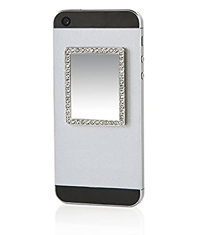 iDecoz Phone Mirror Sticker / Reusable Cosmetic Compact Unbreakable Real