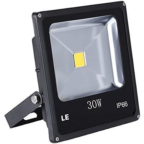 LE Foco Proyector LED Resistente al Agua IP66, 30W=75W SAP, 2250lm, Blanco Frío 6000K