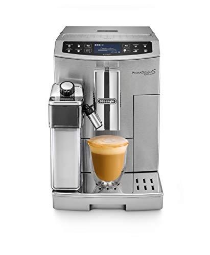 De'Longhi ECAM 510.55.M PrimaDonna S EVO Cafetera Automática, Pantalla LCD táctil, Controlable con Smartphone, Variedad Cafés, Sistema LatteCrema, Limpieza Automática, Plateado