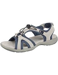 Boulevard Shoes - Retro aperto donna , argento (Pewter), 38 EU