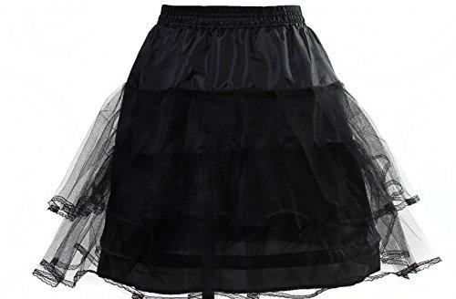 HIMRY Reifrock Petticoat 1 Ring mit Spitze, Mini Unterrock superleicht und formstabil, Underskirt...