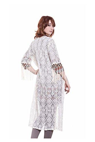 Abbino - Robe de chambre - Femme Weiß