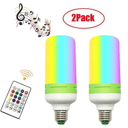 (2PCS)2 EN 1 E27 Lampe Ampoule 12W Bluetooth LED Enceinte Musique Hauts-parleurs RGB Lampe Couleur Intelligente Lumières Colorées Sans fils Lecture de musique Télécommande Ampoules Spéciales