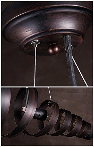 BAYCHEER Industrielampe Kronleuchter Eisen Lampe Länge 70cm Bar Loft Design Leuchte - 3