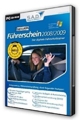Führerschein 2008/2009, CD-ROM in Kst.-Box Der digitale Fahrschultrainer. Für Windows 98/ME/2000/XP/Vista