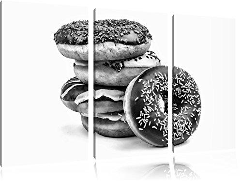 monocrome-sweet-donuts-3-pc-image-toile-120x80-image-sur-toile-xxl-enormes-photos-completement-encad
