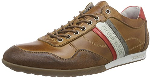 Cycleur de luxe CRASH, Baskets homme Marron - Braun (COGNAC / ANTRACITE / SCARLET / OFF WHITE)