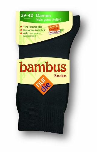 Nur Die - Calcetines para mujer, color Negro (Schwarz 940), talla 35 - 38, 1 unidad