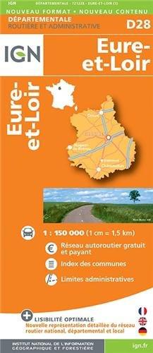 CLAVILLE ET ENVIRONS - D28 EURE-ET-LOIR 1/150.000