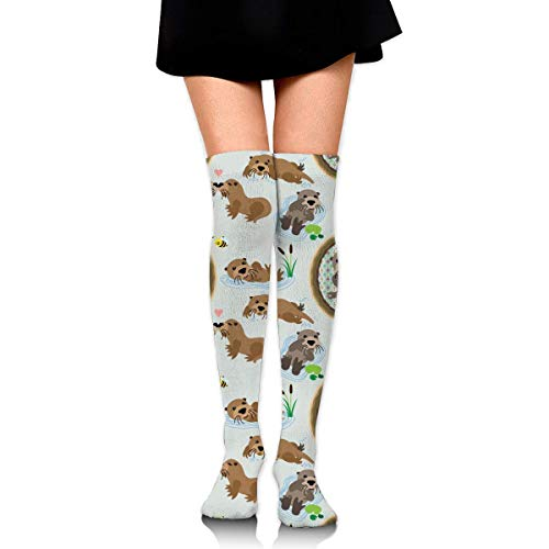 XIUZHIZH Knee High Leg Warmer Out of Picture Peterbilt Dump Truck Compression Socks High Tube Thigh Boots Stockings for Women Teens Girls (Truck Red Dump)